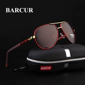 BARCUR Aluminum Magnesium Sunglasses Polarized Coating Night Vision Sunglasses for Men Aluminium Sunglasses Night Vision Sunglasses Sunglasses for Women