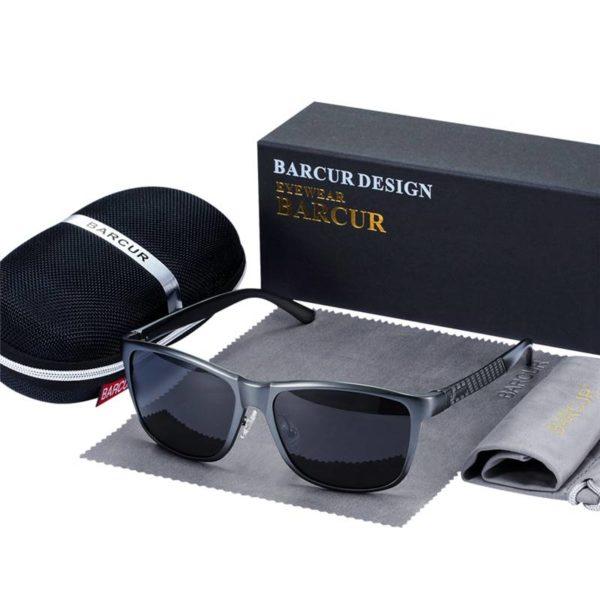 BARCUR Aluminum Sunglasses HD Polarized UV400ns Classic Brand Women Men BC8587 Sunglasses for Men Aluminium Sunglasses Sunglasses for Women