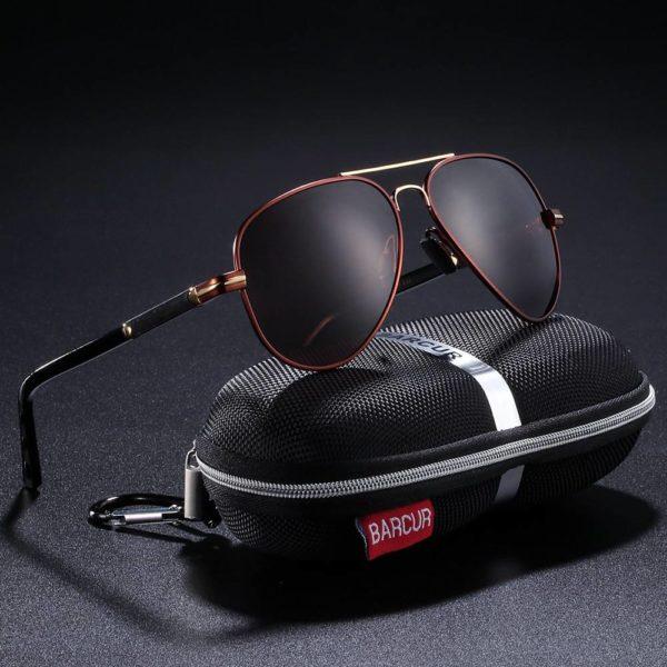 BARCUR Polarized Sunglasses Pilot for Men Driving Fishing Hiking BC8721 Sunglasses for Men Sunglasses for Women