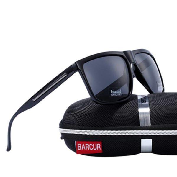 BARCUR Brand Fashion Black Sunglasses Men Polarized Driving Fashion Male BC2063 Sunglasses for Men