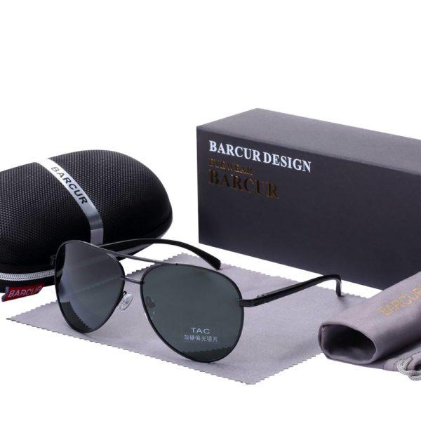 BARCUR Accessories Sunglasses Male Polarized Sunglasses for Men BC8150 Sunglasses for Men Round Series Sunglasses