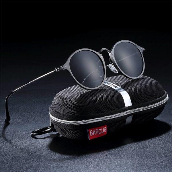 BARCUR Aluminum Vintage Sunglasses BC8575 Sunglasses for Men Aluminium Sunglasses Round Series Sunglasses Sunglasses for Women