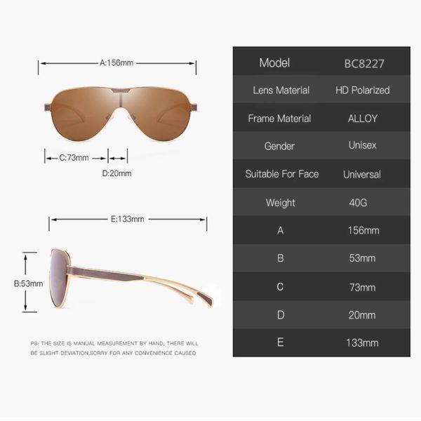 BARCUR Drving Polarized Sunglasses BC8227 Sunglasses for Men