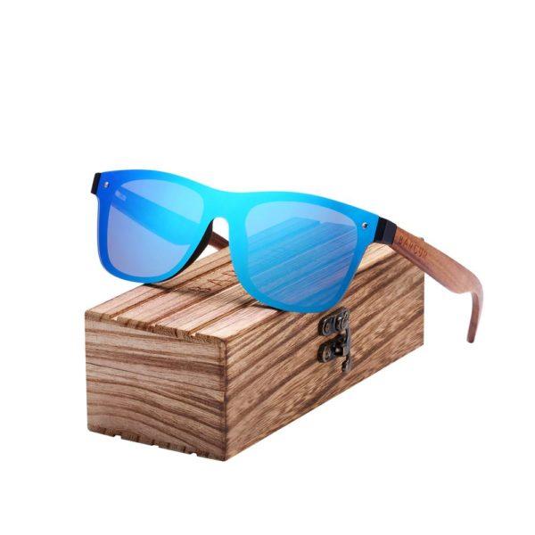 BARCUR Polarized Zebra Wooden Brand Vintage Style Sunglasses BC4126 Sunglasses for Men Sunglasses for Women Wooden Sunglasses