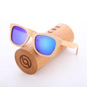 BARCUR Retro Polarized Sunglasses Bamboo Handmade BC8201 Sunglasses for Men Sunglasses for Women Wooden Sunglasses