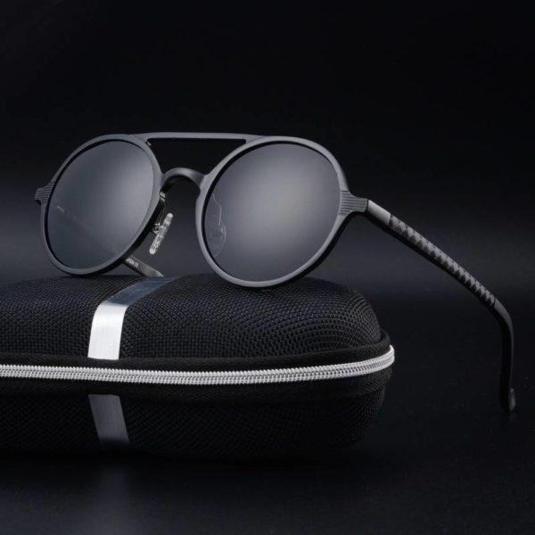 BARCUR Brand Designer Steampunk Retro Aluminum magnesium Sunglasses BC8888 Sunglasses for Men Aluminium Sunglasses Sunglasses for Women