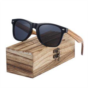 BARCUR Sunglasses Polarized Zebra Wood Glasses Hand Made Vintage BC8720 Sunglasses for Men Sunglasses for Women Wooden Sunglasses