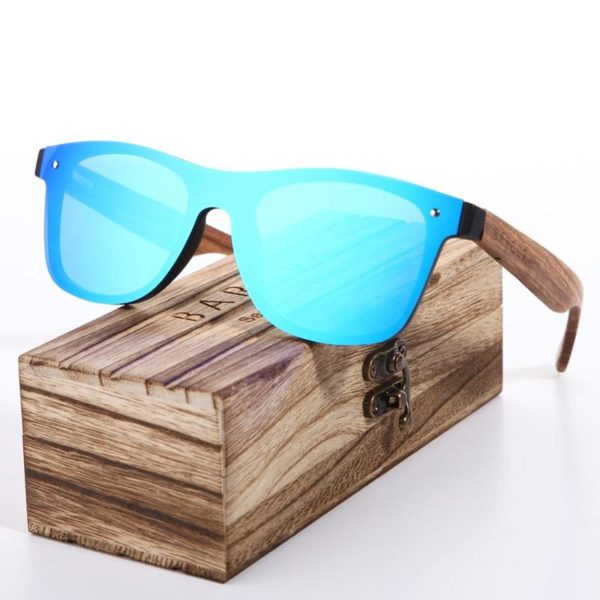 BARCUR Wood Glasses Black Walnut Sunglasses Unisex BC4205 Sunglasses for Men Sunglasses for Women Wooden Sunglasses