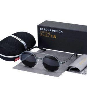 BARCUR Retro Aluminum Magnesium Sunglasses Polarized Vintage Eyewear Accessories Women Sun Glasses Driving Men Round Sunglasses BC8565 Sunglasses for Men Aluminium Sunglasses Round Series Sunglasses Sunglasses for Women