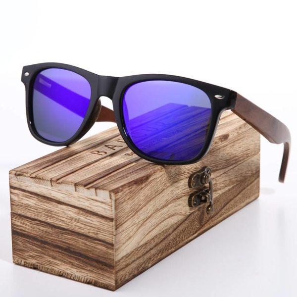 BARCUR Black Walnut Sunglasses Wood Polarized Sunglasses BC8700 Sunglasses for Men Sunglasses for Women Wooden Sunglasses