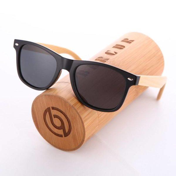 BARCUR Fashion Bamboo Polarized Sunglasses Wooden Sunglasses Unisex BC4176 Sunglasses for Men Sunglasses for Women Wooden Sunglasses