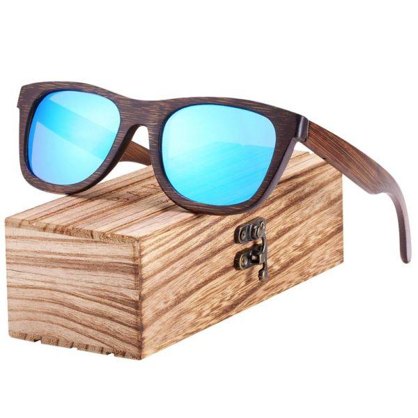 BARCUR Woode Sunglasses Men Women Sun glasses Brown Bamboo Glasses for Men Vintage BC8200 Sunglasses for Men Sunglasses for Women Wooden Sunglasses