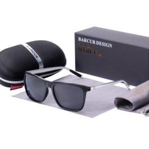 BARCUR Polarized Sunglasses for Men Aluminum Legs Sunglasses Polarized PC Frame Vintage Night Male Driving Women BC8187 Sunglasses for Men Sunglasses for Women