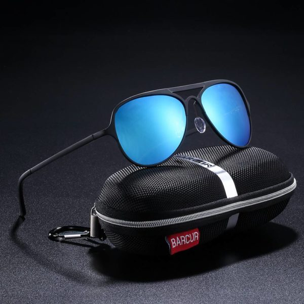 BARCUR Male Sunglasses Polarized Aluminium Ultralight Pilot Sunglasses for Women Sports BC8525 Sunglasses for Men Aluminium Sunglasses Sunglasses for Women