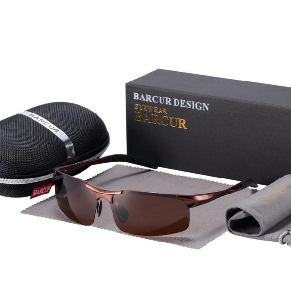 BARCUR Classic Design Aluminum Sunglasses Men Women HD Polarized Anti-Reflective BC8274 Sunglasses for Men Aluminium Sunglasses Sunglasses for Women