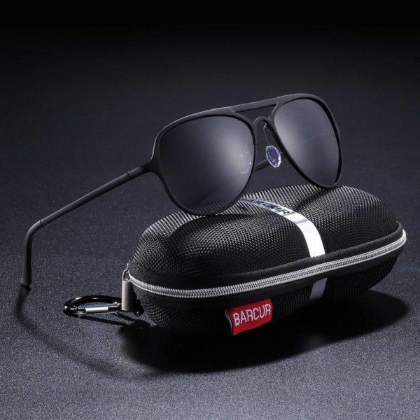 BARCUR Aluminium Ultralight Pilot Sunglasses Men Polarized Driving Women Sun glasses for Men Sports BC8525 Sunglasses for Men Aluminium Sunglasses Sunglasses for Women