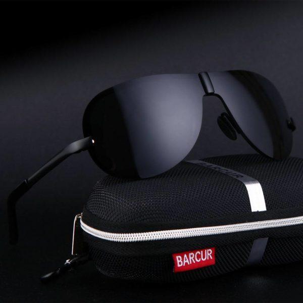 BARCUR Glass Stainless Steel Polarized Sunglasses Men Driving BC8868 Sunglasses for Men