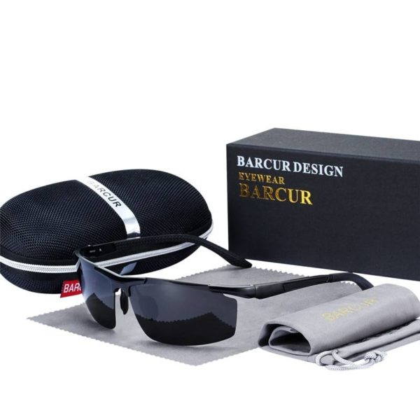 BARCUR Sports Men Polarized Sunglasses Men Night Driving Glasses Versatile Night Vision BC8530 Sunglasses for Men Aluminium Sunglasses
