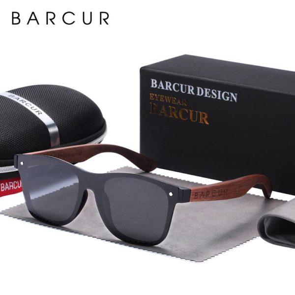 BARCUR Walnut Sunglasses for Men Polarized Wood Sun glasses UV400 BC4126 Sunglasses for Men Sunglasses for Women