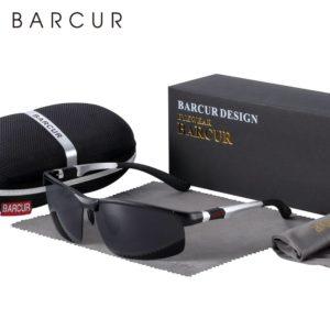 BARCUR Aluminium Magnisium Sport Sunglasses Polarized Light Weight Riding Driving Glases Men Women BC8176 Sunglasses for Men Aluminium Sunglasses Sunglasses for Women