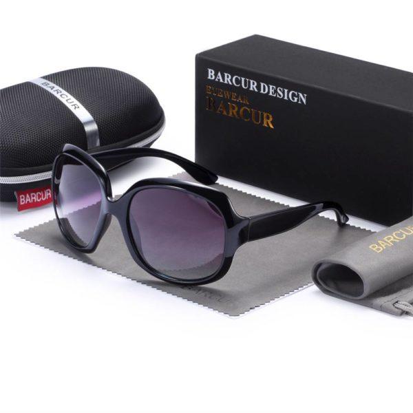 BARCUR +TR90 Material Original Gradient Polarized Sunglasses Women Vintage BC2116 Sunglasses for Women TR90 Material Sunglasses