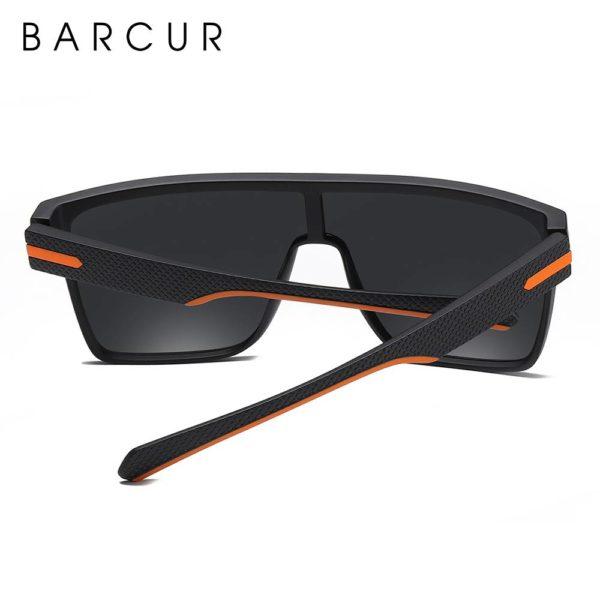 BARCUR Oversized Polarized Sunglasses Men Square Driving BC2365 TR90 material Sunglasses for Men TR90 Material Sunglasses