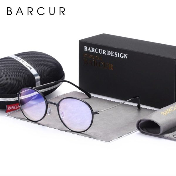 BARCUR New Computer Glasses Round Anti Blue Light UV Blocking Gaming Filter BC3448 Sunglasses for Men Anti Blue Ray Glasses Round Series Sunglasses Sunglasses for Women