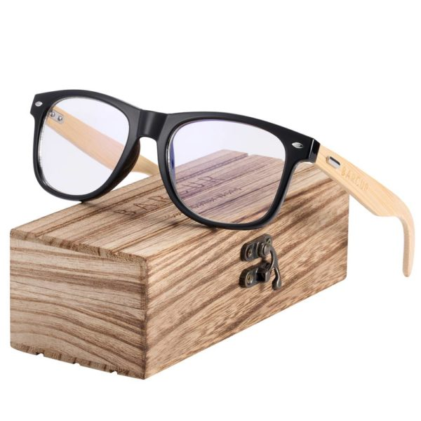 BARCUR Wood Anti Blue Ray Glasses Computer UV Blocking Gaming Filter BC8700 Sunglasses for Men Anti Blue Ray Glasses Sunglasses for Women Wooden Sunglasses