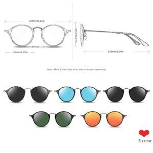 BARCUR Round Sunglasses Steampunk Sunglasses Polarized Women Sunglases Retro BC8575 Round Series Sunglasses Sunglasses for Women