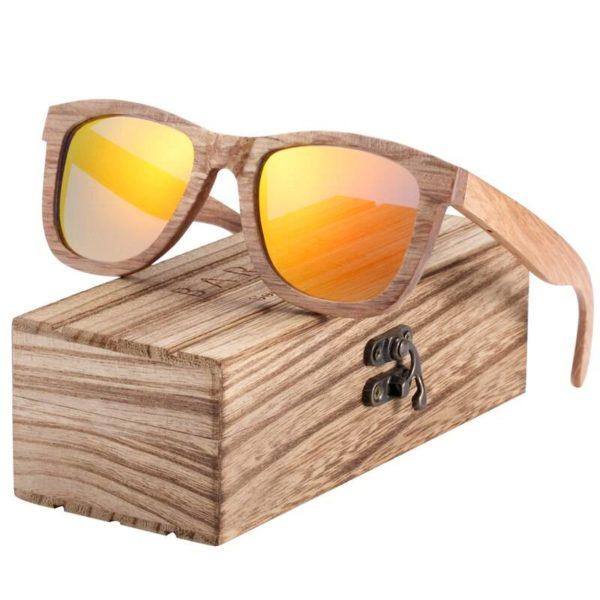 BARCUR Natural Wooden Sunglasses for Men Women Polarized Wood BC8215 Sunglasses for Men Sunglasses for Women Wooden Sunglasses