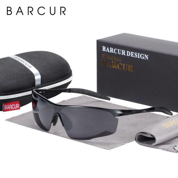 BARCUR Sports Aluminum Magnesium Men Sunglasses Women Polarized Anti-Reflective BC8583 Sunglasses for Men Aluminium Sunglasses Sunglasses for Women