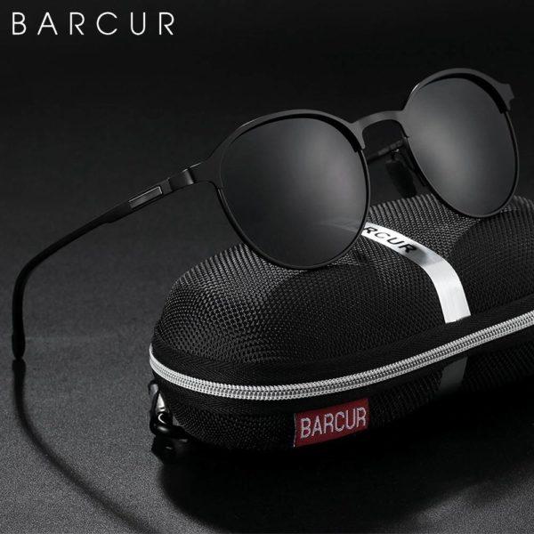 BARCUR TR90 Temples Sunglasses Women Polarized Fashion Driving Round Ladies Round Series Sunglasses Sunglasses for Women TR90 Material Sunglasses