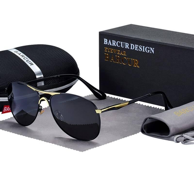 BARCUR Design Sunglasses High Quality Men Polarized Sun Glasses Driving Mens Sun Glasses UV400