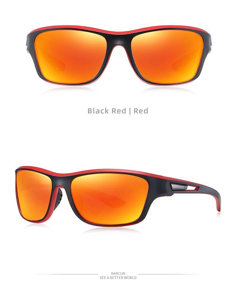 BARCUR Sport TR90 Sunglasses Driving Men Polarized Women Fashion UV400