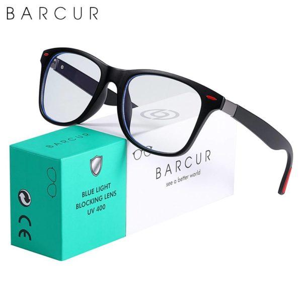 BARCUR Retro Blue Light Blocking Glasses Computer Men Women Trend Styles Optical Reading Anti Blue Ray Glasses