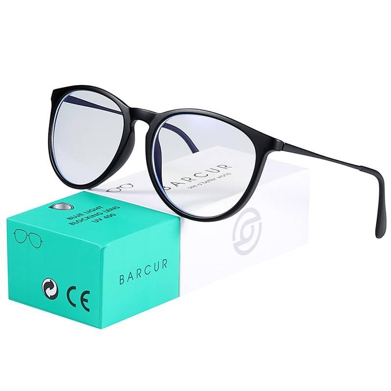 BARCUR Anti Blue Light Computer Glasses Frame Men Women Trend Styles Brand Optical Reading