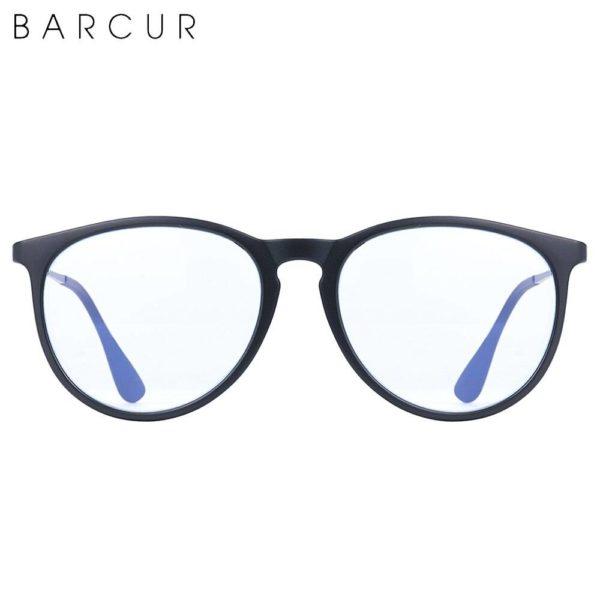 BARCUR Anti Blue Light Computer Glasses Frame Men Women Trend Styles Brand Optical Reading Anti Blue Ray Glasses Round Series Sunglasses