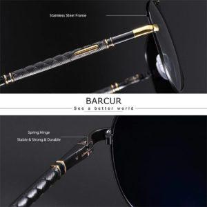 BARCUR BC8688 Pilot Style Vintage Men's Sunglasses Polarized Coating Classic Sunglasses for Men Sunglasses for Women