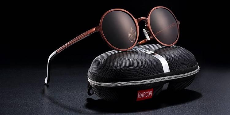 BARCUR BC8688 Pilot Style Vintage Men's Sunglasses Polarized Coating Classic